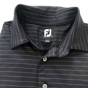 FootJoy Striped Ranchland Hills Golf Shirt Sz L